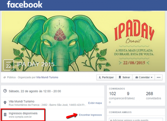 Como vender ingressos no Facebook