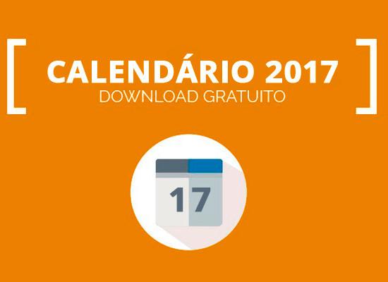 Calendário 2017 para produtores de eventos