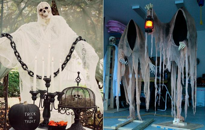 decoração de festa de halloween - fantasmas