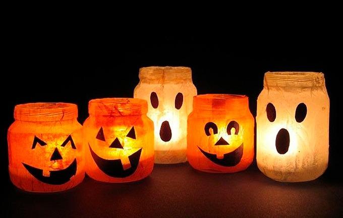 decoração de festa de halloween - iluminação